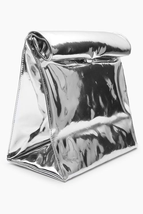 SMK Silver Paper Bag Clutch