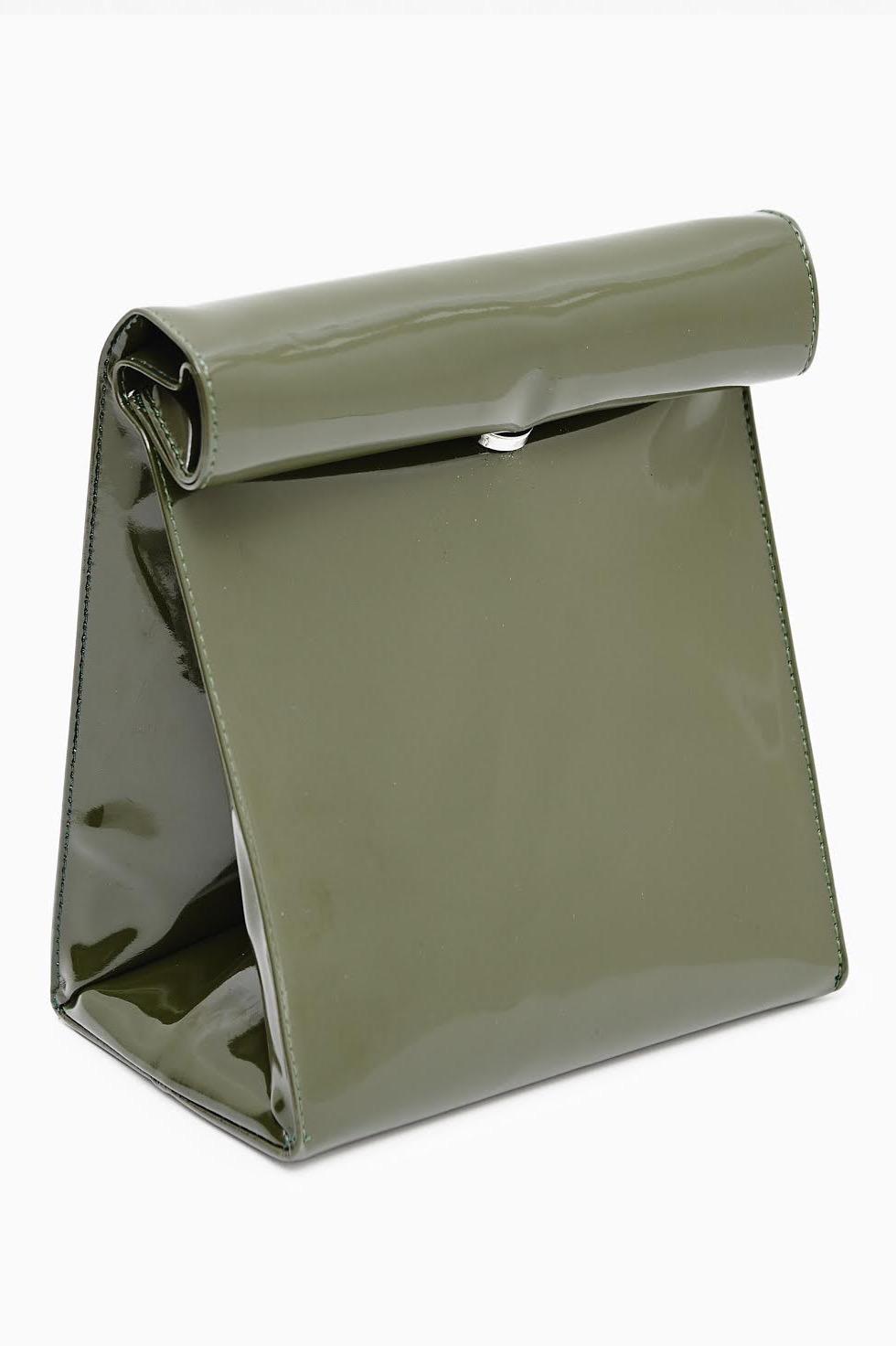 SMK Khaki Paper Bag Clutch